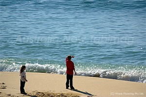 ニューサウスウェールズ州南部の静かなビーチ