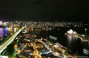 シドニー湾の美しい夜景
