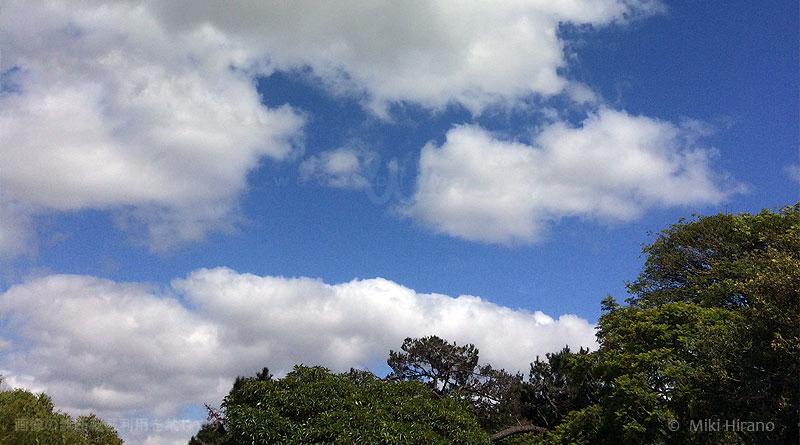 オーストラリアの青空と雲