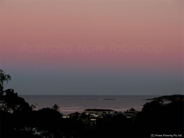 2010年08月11日シドニー北部ノーザンビーチの夕暮れ