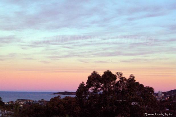 シドニー北部海沿いの夕景 2010年8月25日