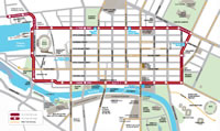 メルボルン観光トラム・マップ(路線図)