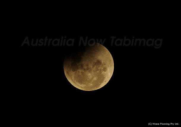 シドニーの月食 2010年12月21日