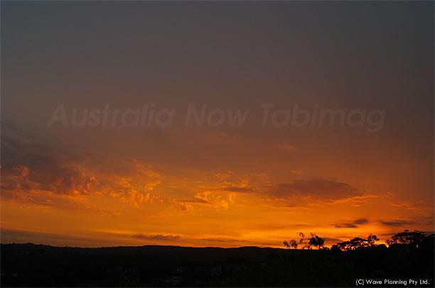 見事なグラデーションで彩られた夕焼け空 2011年1月5日