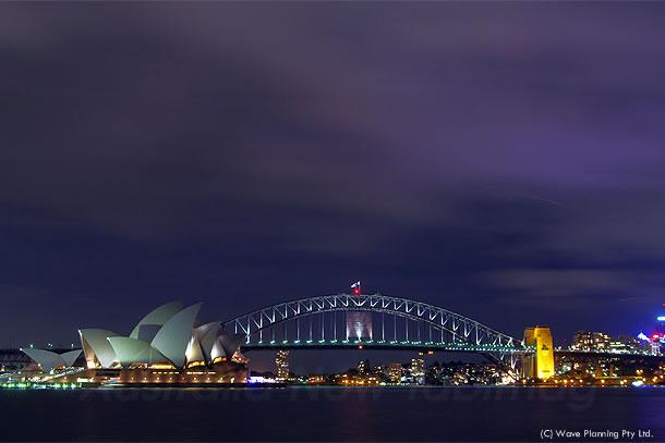 ミセスマッコーリーズポイントから眺める、美しいシドニーの夜景 2011年2月16日