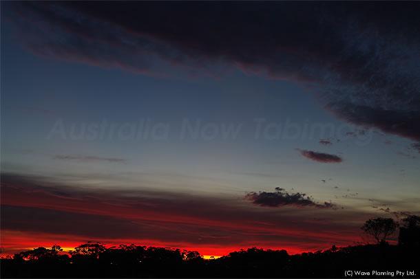 萌えるようなシドニーの夕暮れ 2011年2月20日