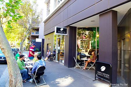 シドニーのカフェ: トビーズ・エステート・コーヒー&ティー