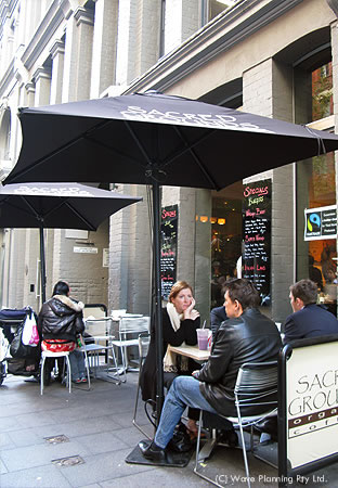 シドニーのカフェ: パルセーション・カフェ