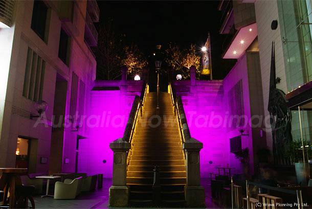 ビビッドシドニー☆ 闇夜に浮かび上がる階段 2011年5月26日