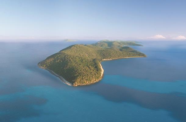 グレートバリアリーフに浮かぶオーフィアス島