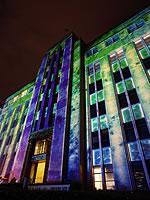 シドニー近代美術館のライトアップ