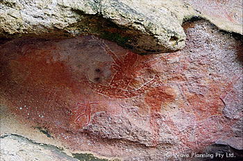 聖地に描かれたアボリジニの壁画