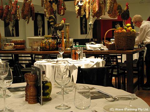 シドニー中心部の便利な場所にある老舗イタリアン・レストラン マキアヴェリ Machiavelli
