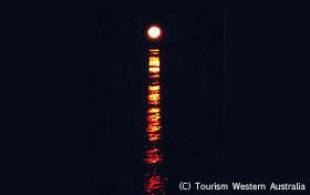 自然が織りなす神秘的な光景、月への階段