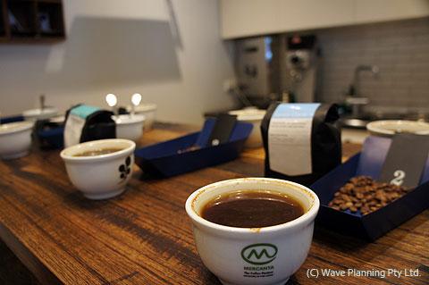 メルボルンで、コーヒーカッピング体験