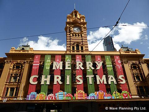 フリンダースストリート駅のクリスマスデコレーション