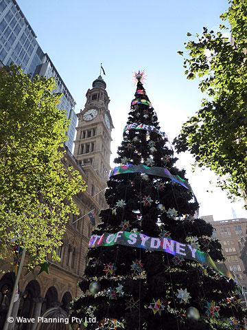 シドニー マーティンプレイスのクリスマスツリー
