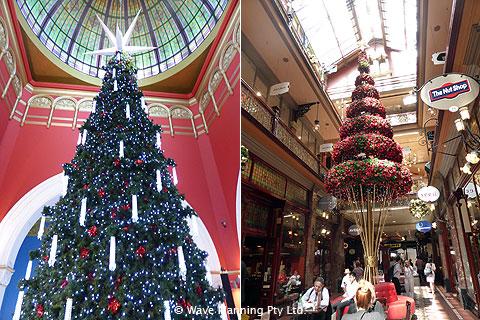 QVBのクリスマスツリーとストランドアーケードのツリー