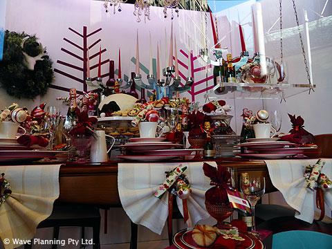 デパート「ディビッドジョーンズ」食品館のクリスマスのウィンドーディスプレイ