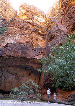 巨大な岩の裂け目にできたカセドラル峡谷