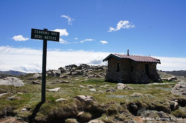 コジオスコ山山頂付近にある「シーマンズ・ハット」