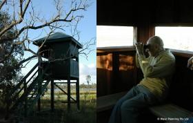 敷地内には鳥見小屋が数ヶ所設置されている