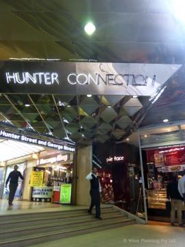 シドニー中心部のハンターコネクション