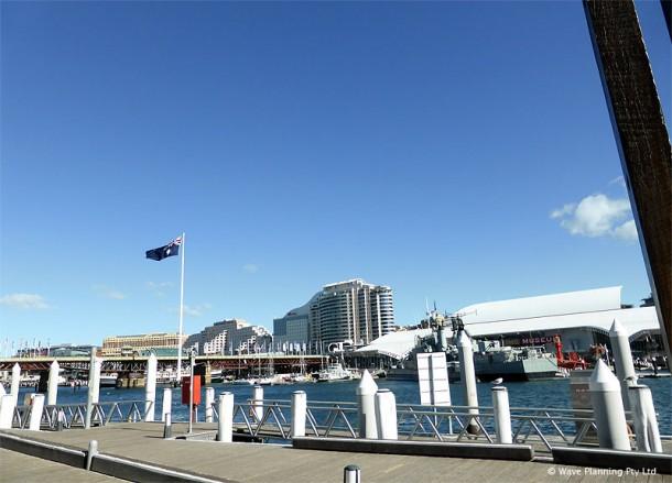 シドニー中心部のダーリングハーバー