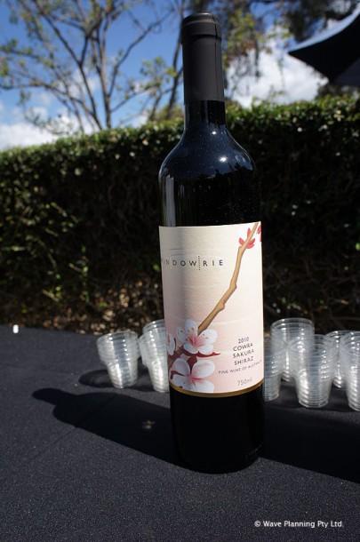 カウラのブティックワイナリーで作られているワイン「桜シラーズ」