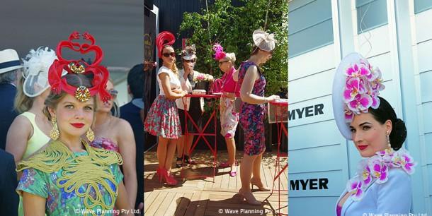 華やかなファッションに身を包んだ女性たちであふれるメルボルンカップ