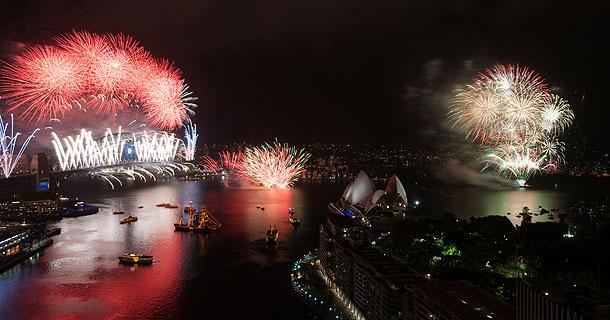 シドニー湾年越し花火2013-2014