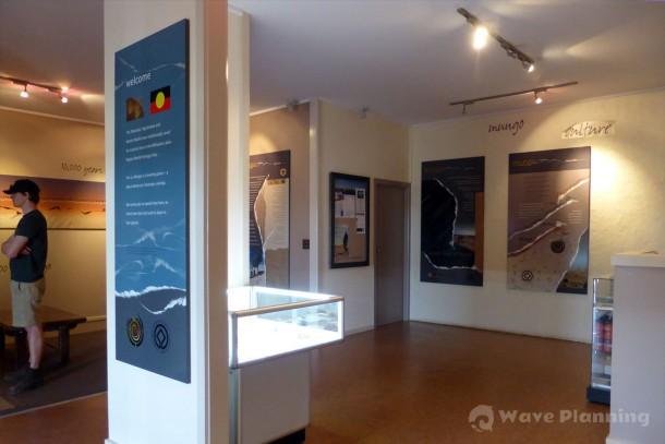 音響設備も整って、新しくきれいになったムンゴ国立公園の展示室