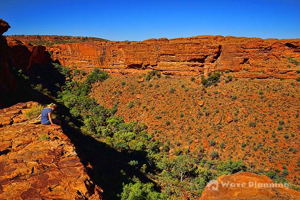 断崖絶壁の渓谷がみせる素晴らしい景観のキングスキャニオン(ワタルカ国立公園)