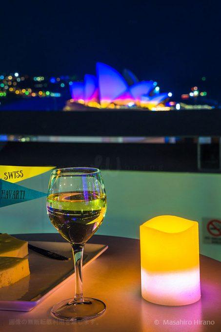 オペラハウスを眺めながらチーズとワインで乾杯!