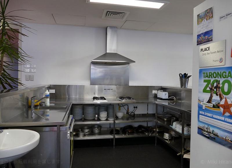 清潔な共有キッチン