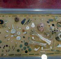 敷地内から発掘された出土品
