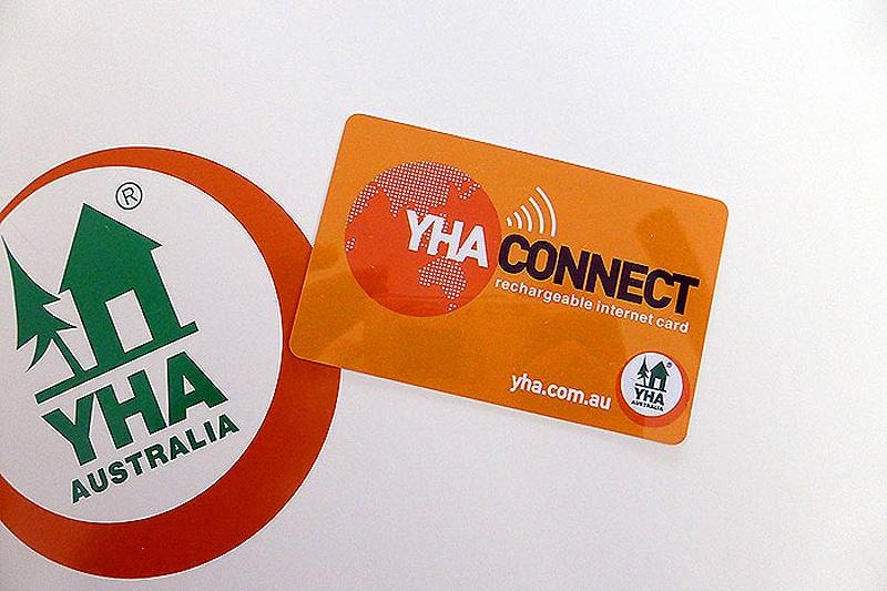 YHAの施設共通のWifiカード
