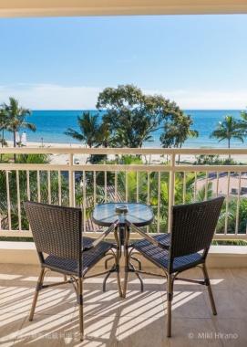 ホテル・ルームのバルコニーからの眺めは絶景!