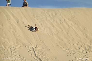砂丘でのサンドボードは病み付きになる楽しさ!