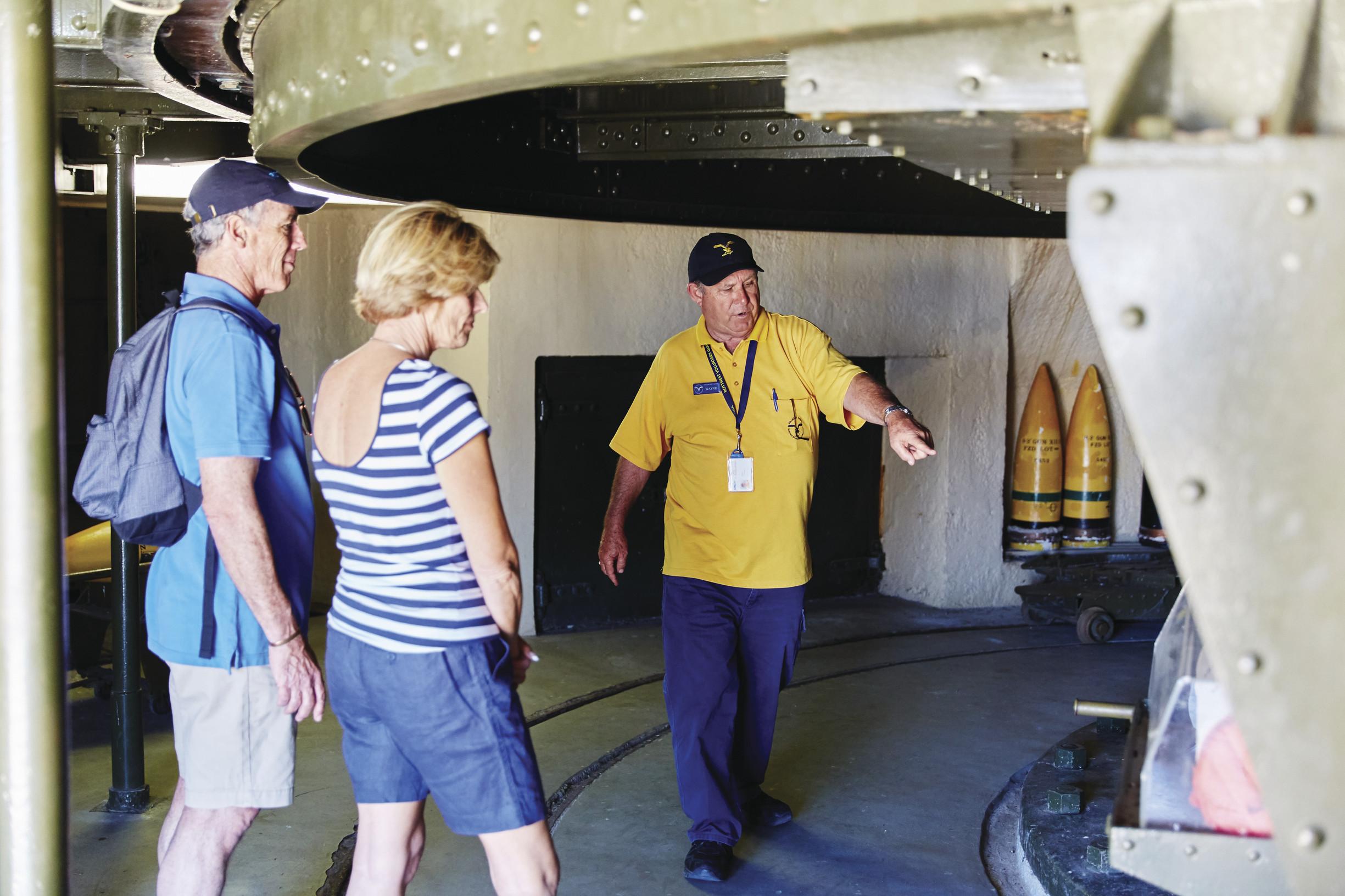 第二次世界大戦中に造られた砲台などが残るオリバー・ヒル・バッテリー