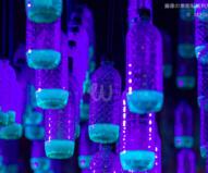青いケミカル・ライトは空ペットボトルの再利用 / ビビッド・シドニー2016