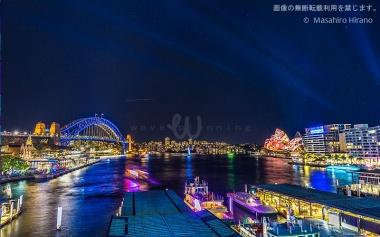 サーキュラー・キー駅の上から眺めるシドニー湾 / ビビッド・シドニー2016