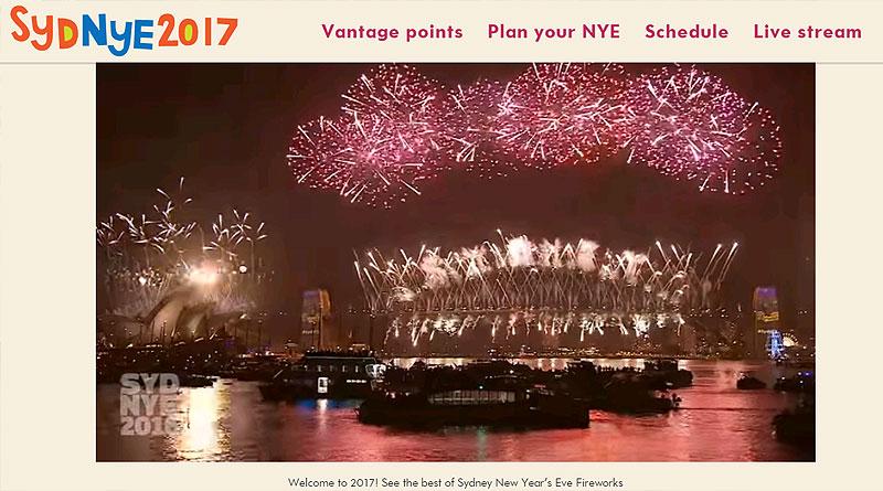 シドニー湾年越しイベント公式サイト2017