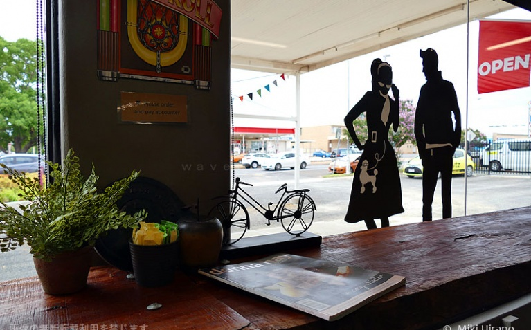 エルビスの町パークスのカフェにはこんなかわいい演出も!