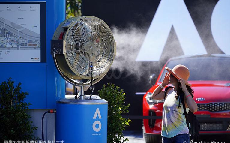 全豪オープンテニス開催時期のメルボルンは真夏!