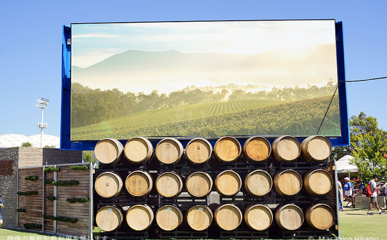 メルボルンからほど近いワイン産地ヤラバレーのコーナーも出現!