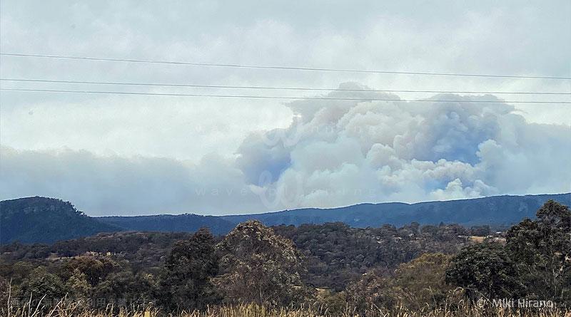 巨大爆発のような黒煙が立ち上るメガ・ファイヤーとなった巨大規模森林火災