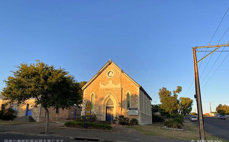 カンガルー島キングスコートにある小さな教会(2020/1/29撮影)