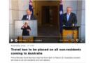 【随時更新中】オーストラリア、3月20日より国境を閉鎖 豪国内各地の状況